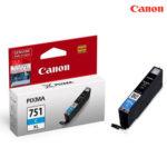 ตลับหมึกอิงค์เจ็ท Canon CLI-751XLC Cyan  สีฟ้า