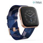 SMART WATCH (สมาร์ทวอทช์) FITBIT VERSA2 (NFC), SE Navy & Pink Woven, FRCJK [FB507RGNV-FRCJK]